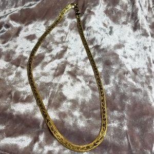 Vintage herringbone necklace